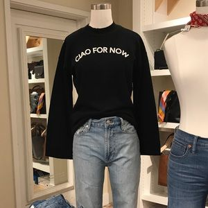 """Madewell """"Ciao For Now"""" pullover sweater"""